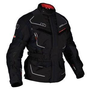 Oxford Oslo MS Tech Black Motorcycle Motorbike Touring Long Jacket