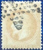France oblitéré, n°28A, 10c bistre Napoléon III, empire français, dentelé, 1867