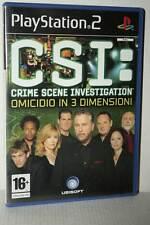 CSI : CRIME SCENE INVESTIGATION OMICIDIO IN 3 DIMENSIONI USATO PS2 ITA RS2 51042