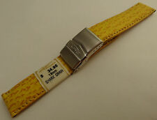 ZRC France Yellow Shark 18mm Watch Band Steel Deployment Sealock Clasp $34.95