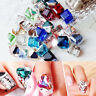 Lots 100x/Bag Cube Loose Beads Crystal Glass DIY Handcrafts Jewellery Making
