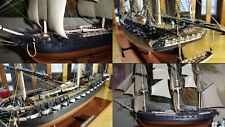 "Model Ship Kit 36"" Plastic Sailing Boat Assembe Tall Ships Vintage Shipbuilding"