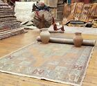 """Stunning Antique Cr1930-1940's Muted Dye Wool Pile Oushak Area Rug 3'9""""×8'5"""""""