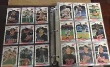 1988 Fleer Baseball Complete Set in Binder Martinez, Glavine, Grace, Caminti RCs