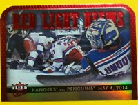 2014-15 Fleer Ultra Red Light Views #6 New York Rangers Vs. Pittsburgh Penguins
