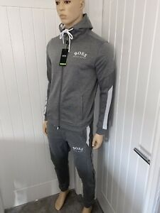 Hugo Boss Tracksuit Hooded Jacket & Pants Mens Grey New Season Size XXLarge £119