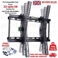 TILT TV WALL BRACKET MOUNT LCD LED PLASMA 32 42 50 55 UP TO 60 INCH SONY SAMSUNG