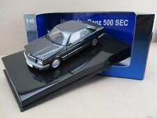 Mercedes-Benz 500 SEC (W126) Coupè in blauschwarz met. Autoart 1:43 OVP NEU