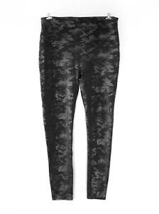 NWOT SPANX Faux Leather Camo Leggings 20136P - Size 2X Matte Black