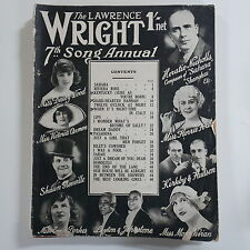 LAWRENCE WRIGHT`s 7th song annual , 1924