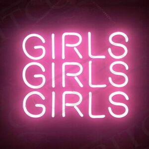 "Girls Girls Girls Neon Sign Light Lamp 14""x10"" Bar Decor Beer Pub Wall Gift"