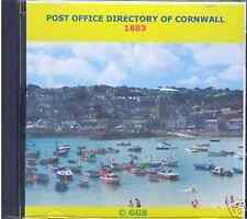 GENEALOGY DIRECTORY OF CORNWALL 1883 CD ROM
