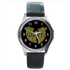 Wu Tang Clan Rap Hip Hop Logo #A leather metal watch
