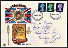 GB 1967 WESSEX FIRST DAY COVER BRITISH DEFINITIVE ISSUES SG729,740,743