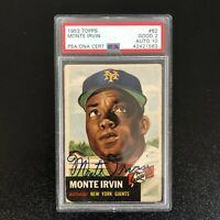 1953 Topps #62 Monte Irvin Auto 10 New York Giants
