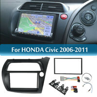 2 Din Radio Fascia Plates Dash Trim Mount Frame for Honda Civic Panel Frame