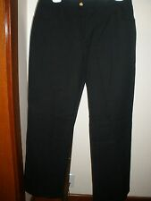 NWOT WOMEN'S ST. JOHN BLACK PANTS JEANS SZ 10 95% Cotton 5% Elastane 5 Pockets