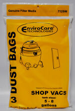 Envirocare Wet Dry Vac Bags Fits 5, 6, 7, 9 Gallon Machines