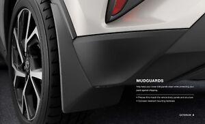 2018 Toyota C-HR Mudguards Mud Flaps (set of 4) Genuine OEM PU060-10016-P1