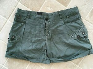 WOMENS G STAR RAW 3301, COTTON CARGO STYLE SHORTS,  SIZE APPROX 30-31 #2864
