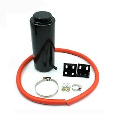 Cylinder Engine Coolant Radiator Catch Tank Overflow Reservoir Can Black