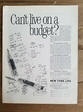 1964 New York Life Insurance can't live on a budget broken pencil ad