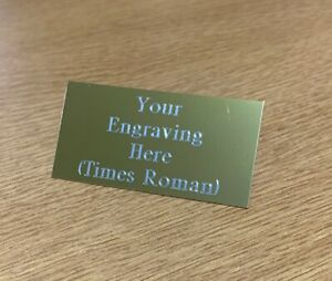 Engraved Personalised Sports Trophy Plate Plaque self adhesive in Gold or Silver