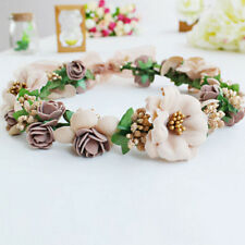 Beautiful Girl Wedding Flower Hair Garland Crown Headband Floral Wreath Hairband