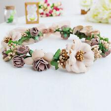 Beautiful Girl Wedding Flower Hair Garland Crown Headband Floral Wreath Hairband