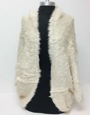 Women's Ivory Faux Fur Outerwear Cape Shawl Stole Wrap Shrug Scarf Wedding/Party