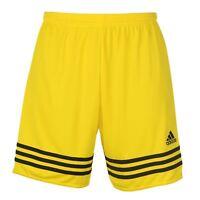 adidas Entrda 14 Shorts Mens Yellow/Black Football Soccer Training Wear