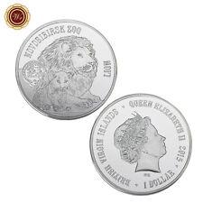 WR Novosibirsk Zoo Series Lion Silver Coin 2015 British Virgin Islands 1 Dollar