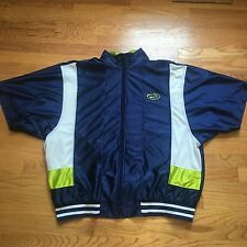 VTG 90s NIKE Air BASKETBALL Warm Up XL Jacket NEON OG HOOPS Shooting Shirt Shiny