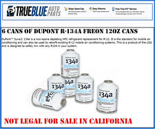 Six (6) 12oz Cans of DuPont Suva R134a Automobile Refrigerant/Freon ( 6 Cans)