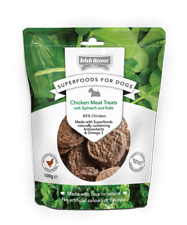 Irish Rover Superfoods for Dogs Chicken Meat Treats with Spinach & Kale 1kg