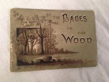 Colman's Christmas Miniature Book - BABES IN WOOD - Chromolithograph, Victorian