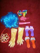 Dressing up accessories bundle job lot Disney princess gloves wig bag shoes hair