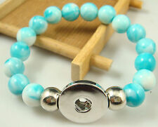 new Diy handmade jade beads Bracelet fit chunk snap button hot sell free 0Q