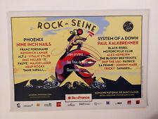FESTIVAL ROCK EN SEINE NINE INCH NAILS PHOENIX KALKBRENNER  carte postale