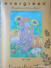 Nwt/Autumn Garden Boots Large House Flag/Pumpkins/Sunflowers/ Brand New/29 x 43