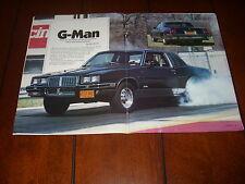 1985 PONTIAC GRAND PRIX STREET RACE CAR SLEEPER ***ORIGINAL 1987 ARTICLE***