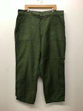 Vintage OG107 Fatigue Pants OD Army Pants W42 x L30 1960s-70s US Army K-37