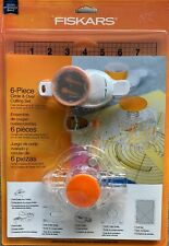 Fiskars 6 Piece Circle & Oval Cutting Set Scrapbooking-Paper-Photo- Crafts 193750