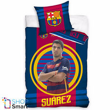FC BARCELONA FOOTBALL CLUB TEAM SUAREZ SINGLE DUVET COVER PILLOW CASE NEW