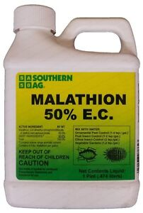 Southern Ag Malathion 50% E.C. 16 oz Insecticide Citrus, Fruits Vegetables Trees