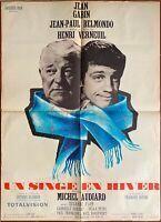 Plakat Un Affe Aus Winter Henri Verneuil Jean Gabin Jean-Paul Belmondo 60x80cm