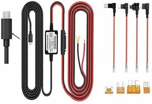 Dash Cam Hardwire Kit - Right Angle Micro USB Port with 4 Fuse Types