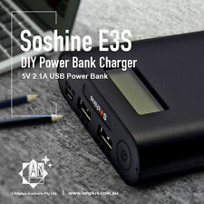 Soshine E3S LCD Display DIY 18650 Battery Charger Mobile Power Bank for Phone