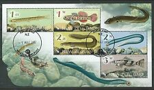 NEW ZEALAND 2017 FRESHWATER FISH MINIATURE SHEET FINE USED