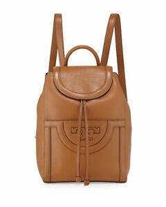 Tory Burch Serif T Backpack Grain Leather Bark